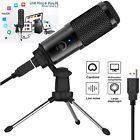USB Studio Recording Microphone-Cardioid Condenser Mic w/ Stand For Game Chat