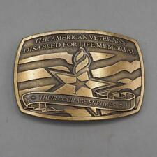 Disabled American Veterans Brass Belt Buckle