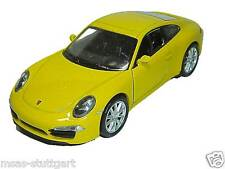 Porsche 911 CARRERA S Yellow with to Opening Doors Welly 1:3 8 New