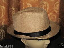 T73:New Stylish Fedora Hat for Men-Free Size-Tan-Gift Idea