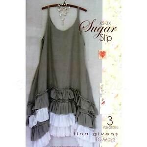 """TINA GIVENS """"SUGAR SLIP A6022"""" Sewing Pattern"""