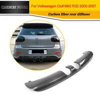 Carbon Rear Bumper Diffuser Spoiler Fit for VW Golf MK5 R32 Hatchback 2Door 2008
