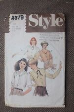 Style Sewing Pattern Misses Set of Blouses Size 16