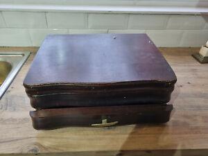 Vintage Flexfit Empty Two Tier Mahogany Colour Canteen Box - For Refurbishment