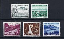 SWITZERLAND - SG553-557 MLH 1954 PRO PATRIA - YOUTH FUND + SWISS HYMN COMPOSER.