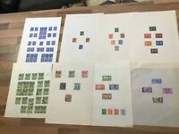 GB Stamps KGVI HIGH VALUE set 2/6 5/ 10/ £1 STAMPS 8 leaves #s GB2