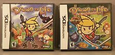Drawn to Life and Drawn to Life The Next Chapter (Nintendo DS, 2006-8) Both NEW