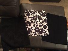 Lot 3 Women's Designer Skirts Sz 10 black white Kenar Vera Wang cynthia rowley