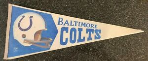 1970's Baltimore Colts Felt Pennant NFL