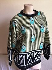 Vtg ESPRIT SPORT womens wool blend oversized boxy 80s 90s New Wave Sweater M/ L