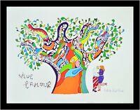 "NIKI DE SAINT PHALLE Leaping Nana 27.5/"" x 19.5/"" Poster 2016 Modernism Multicolor"