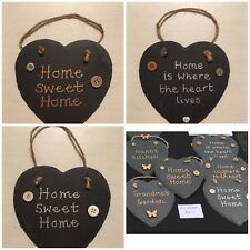 New Home Gift Slate Home Sweet Home plaque Various Designs Home Is Where The