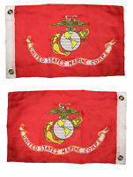12x18 Marines EGA Marine Corps 2 Faced 2-ply Wind Resistant Flag 12x18 Inch