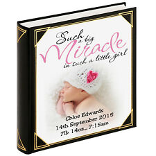 """Personalised large photo album, guestbook, 400 x 6x4"""" photos, Baby girl birthday"""