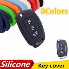 3BTN Silicone Fob Key Case Cover Shell For Hyundai i30 IX35 Elantra Verna Tucson