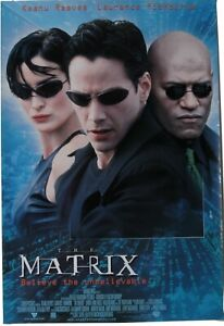"""International One-Sheet for """"The Matrix"""" Rolled Storage Rare"""