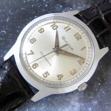 Mens MINT 1967 Bulova SEA KING Self Winding Automatic S/S Vintage Swiss Watch A+
