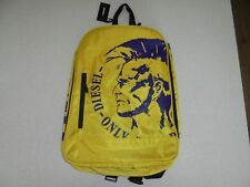 DIESEL ONLY THE BRAVE MOHAWK YELLOW SCHOOL BACKPACK - NWT