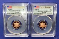 "2019 & 2020 ""S"" Two Coin PCGS 69 RD DCAM First Strike Proof Lincoln Cent Set"