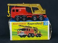 Matchbox Superfast Transitional MB30-A2: 8-Wheel Crane with Type G Box