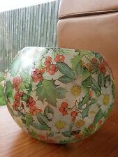 Handmade Table Decoration Decoupage Christmas Glass Lantern Vase / Bowl Teelight