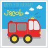 Personalised Birthday Card FIRE ENGINE Son Nephew Brother Grandson Any Age/Name