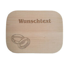 Frühstücksbrettchen nach Wunsch / Holz / Buche / Anlässe und Feierlichkeiten