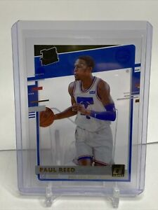 2020-21 Clearly Donruss Paul Reed Gold Foil Rated Rookie RC #59 76ers
