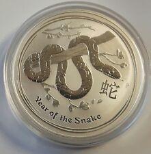 AUSTRALIEN: 1 DOLLAR 2013, STGL.,  LUNAR-JAHR DER SCHLANGE, (Shu1/71), GEKAPSELT