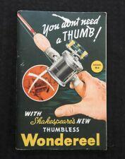 1940 FISHING TACKLE CATALOG SHAKESPEARE COMPANY Wondereel Tony Accetta LURES