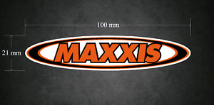 MAXXIS Sticker/Decal 100mm x 21mm - Printed & Laminated - Karting - Go-Kart