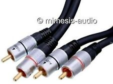 NEDIS RCA CABLE GOLD PLATED 150 CM STEREO INTERLINK NEW HIGH END AUDIO