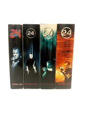 """24""TWENTY-FOUR Seasons 1-4 Complete DVD Set-Seasons 1,2,3 & 4-TV Show-Espionage"