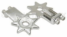 "BMX bicycle star spur chain tensioners tensioner for 3/8"" axles (PAIR) - SILVER"