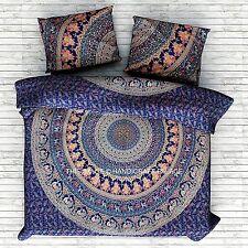 Elephant Mandala Boho Comforter Cover Bedding Throw Indian Handmade Duvet Cover