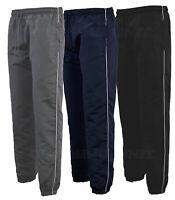 Mens Tracksuit Bottoms microfibre Jogging Trousers Sport Gym Zip Pockets S-2XL