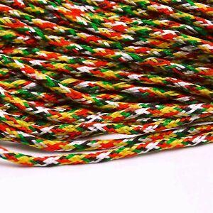 25 Yards Knot Nylon Braided Cord Macrame Beading DIY Rattail String-Keh