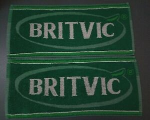 2 X Green Britvic Bar Towels 46cm By 20cm