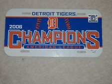 Detroit Tigers License Plate new vintage MLB 2006 American League Champions