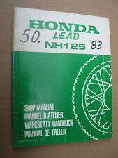 Honda NH125 Lead Werkstatt - Handbuch aus 1983_Shop Manual_Manuel D´ Atelier