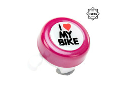 Pink Hand Ring `i Love My Bike` Bicycle Bell Cycle Horn Mountain Kids Road UK