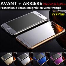 Vitre protection Film Protecteur écran Verre Trempé AVANT+ARRIERE iPhone 4/5/6/7