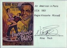 Nina Foch An American in Paris Film Original Autogramm Autograph (O-413+
