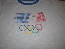 OLYMPICS 1984 VINTAGE LEVIS TEE SHIRT USA XL RARE SIZE SOFT AND NICE