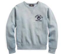 RRL Ralph Lauren Vintage Inspired Sun faded Cotton Blend Sweatshirt-MEN- M