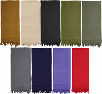 Tactical Desert Scarf Solid Color Heavyweight Arab Cotton Shemagh