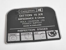 CELESTION DITTON 15 XR Replacment BACK PLATE