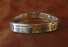 Mens Designer Bracelet - 22Cm Wrist Vintage Fossil 3 Piece Stainless Steel