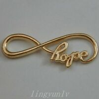 30 Pieces 39x15mm Gold Alloy Hope Infinity Symbol Charms Pendant Connector 50036