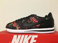 Nike Men's Cortez Basic Floral Pack Shoe Black/Red/White BV6067-001 Size 10